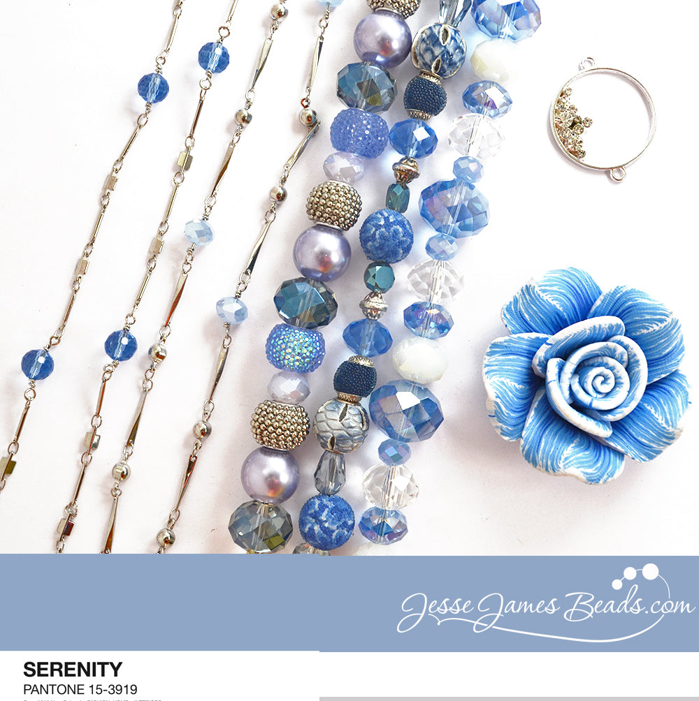 Serenity Color of the Year Budget Bead Bundle from Jesse James Beads