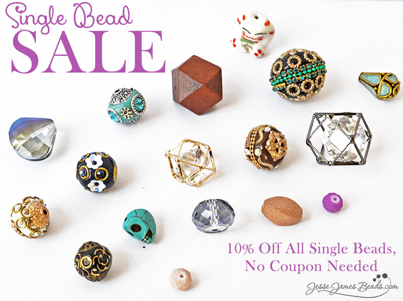 Sparkling Single Bead Sale at Jesse James Beads