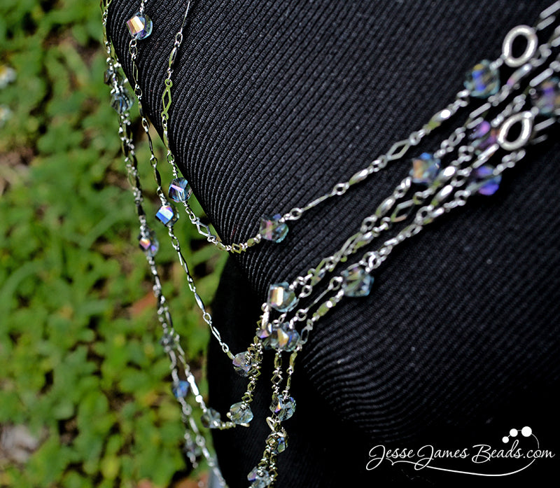 Style DIY - Layering Necklace - Create current fashion looks with chain for jewelry making from Jesse James Beads