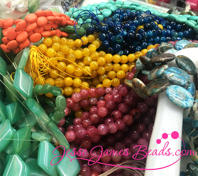 The most unique stone beads - Colorful selections to incorporate with the new lines