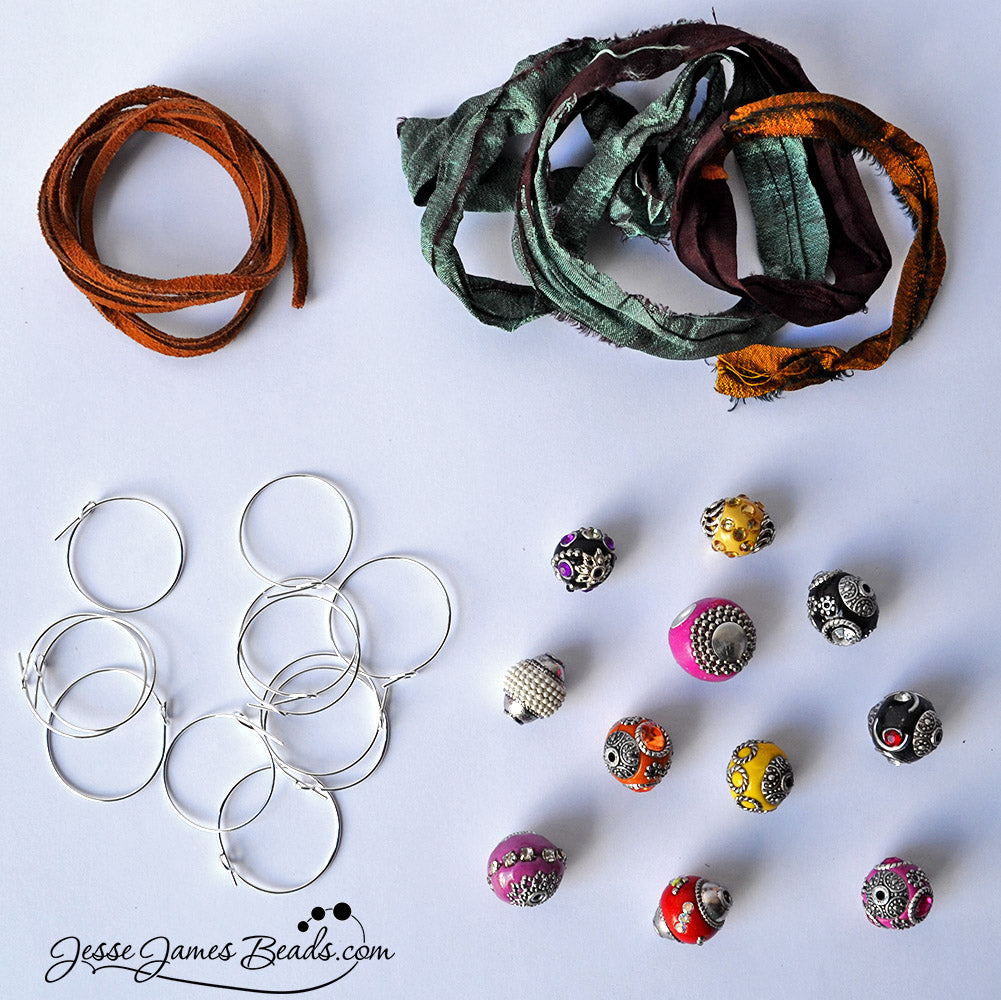 Get the Kit to Make a Set of 12 Boho Style Drink Catchers - DIY Wine Charms are IT!