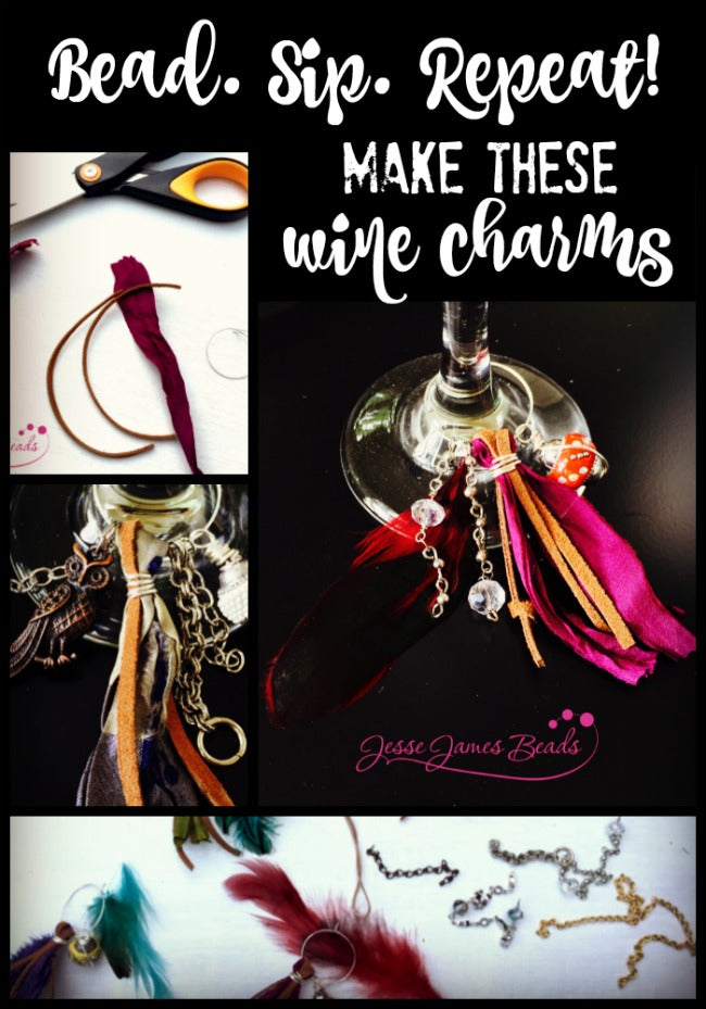Wine Charms with Jesse James Beads