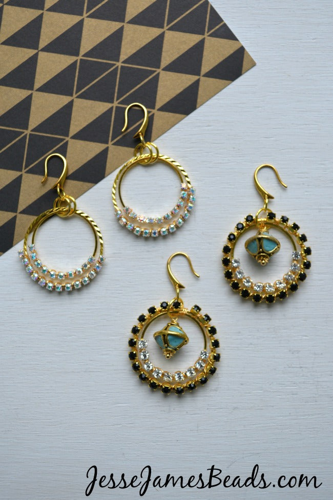 Cup chain earring tutorial from Jesse James Beads
