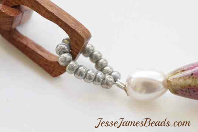 DIY Jewelry Making JesseJamesBeads.com Jewelry with wood chain and seed beads