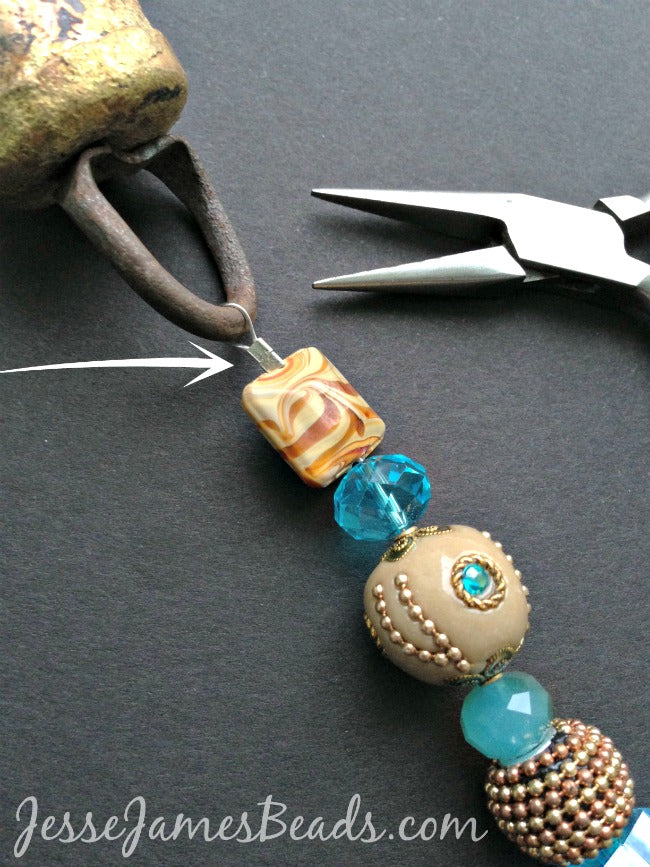 Flat Crimping beads on a wire