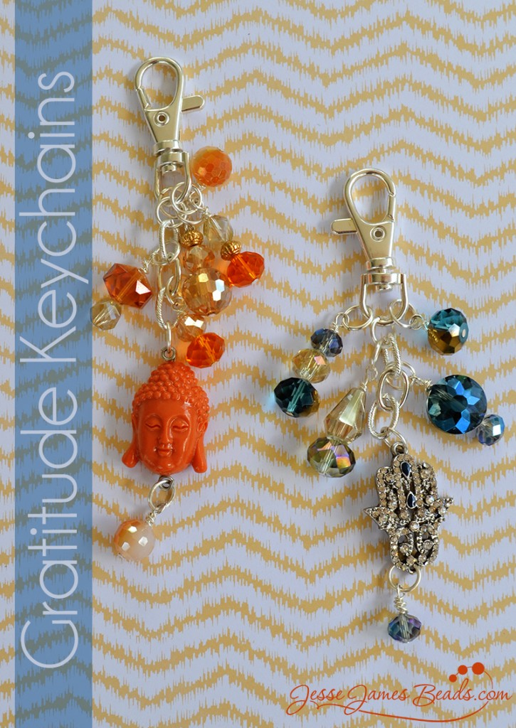 Gratitude Charm Key Chain Project from Jesse James Beads