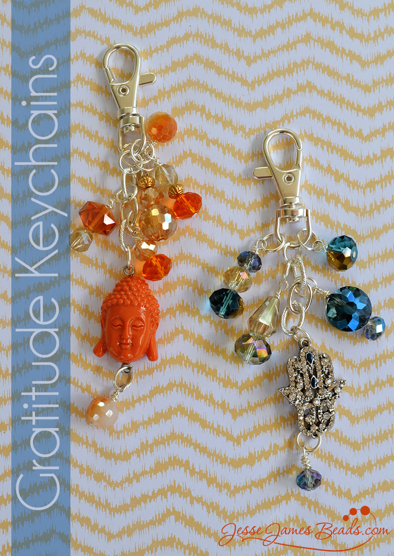 Practice gratitude everyday. Gratitude keychain project from Jesse James Beads