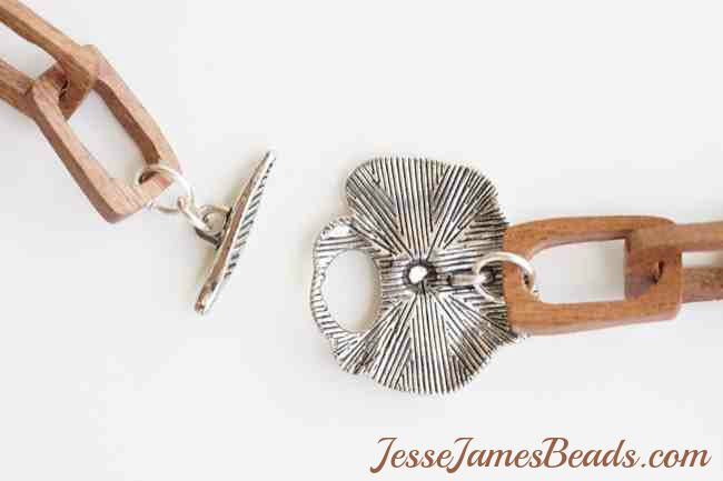 JesseJamesBeads.com new clasp and wood chain