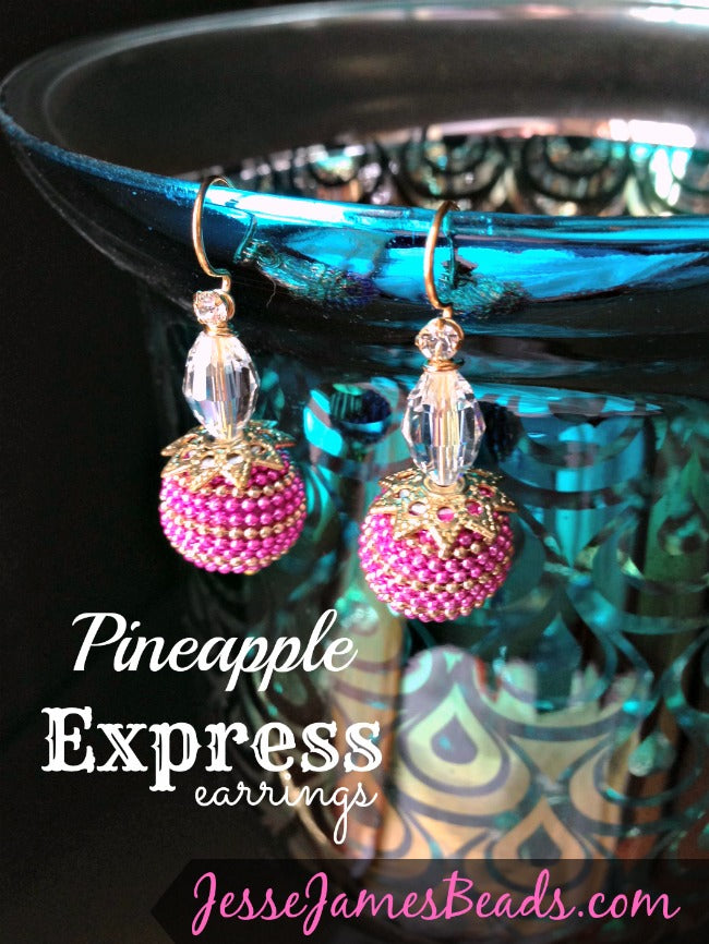 Pineapple Express Earrings from Jesse James Beads