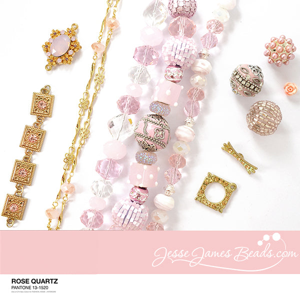 rose quartz budget bead bundle from jesse james beads blog