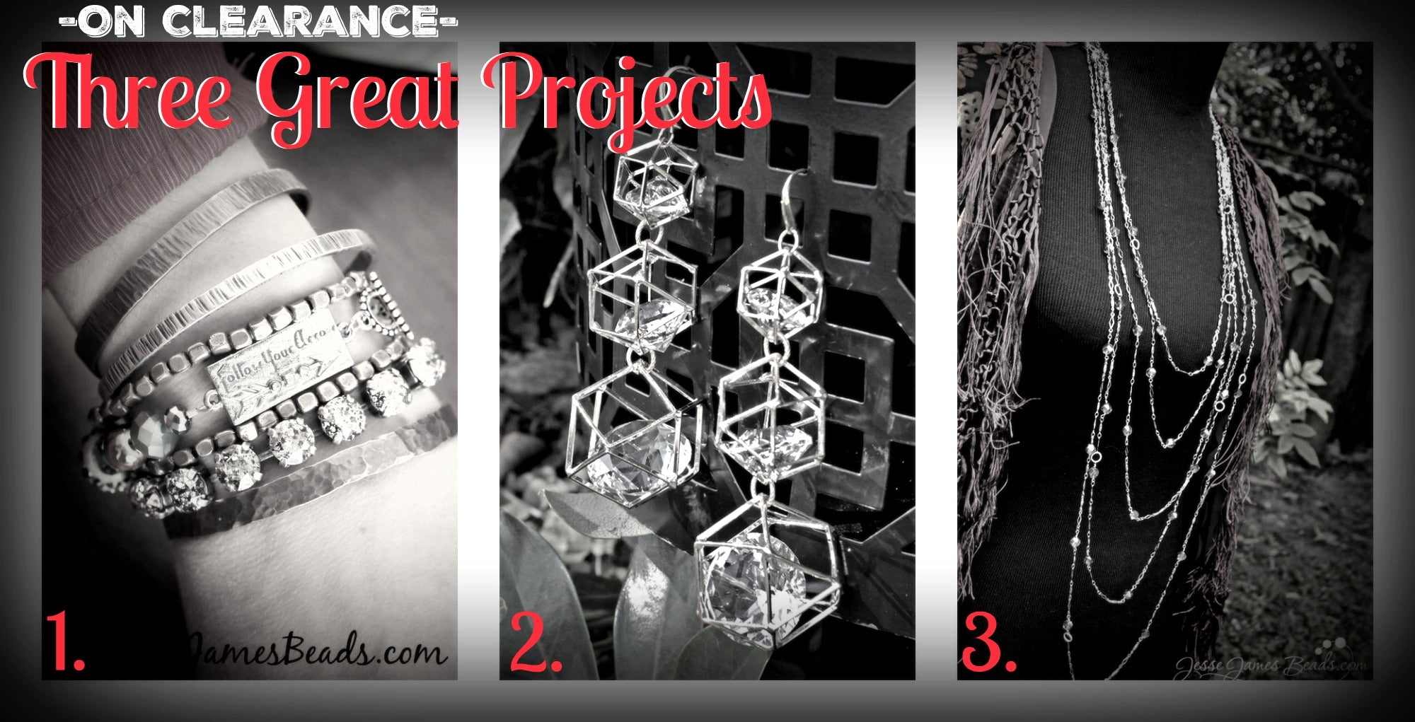 Three inexpensive jewelry projects from Jesse James Beads