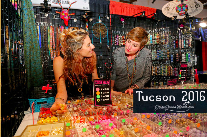 Tucson Gem and Mineral Show 2016 - Come See Sarah James and Candie Cooper at the To Bead True Blue Show at the Double Tree Reid Park