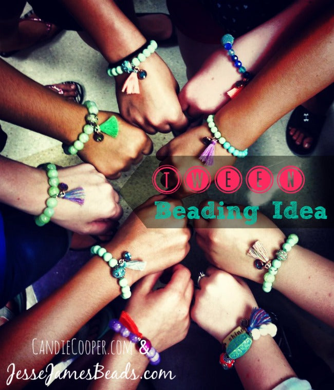 Tween Beading Project Idea-jewelry with tassels and boho beads