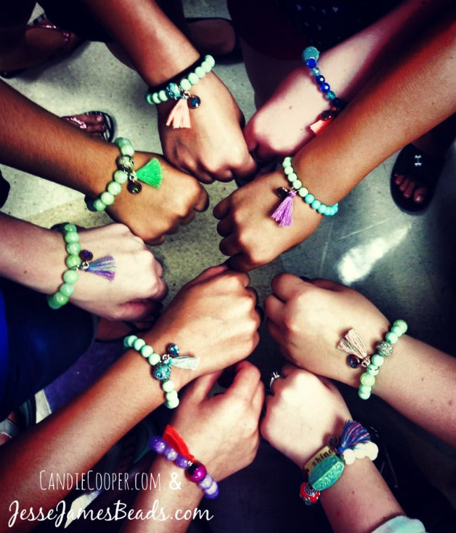 Tween Beading Project Idea-jewelry with tassels