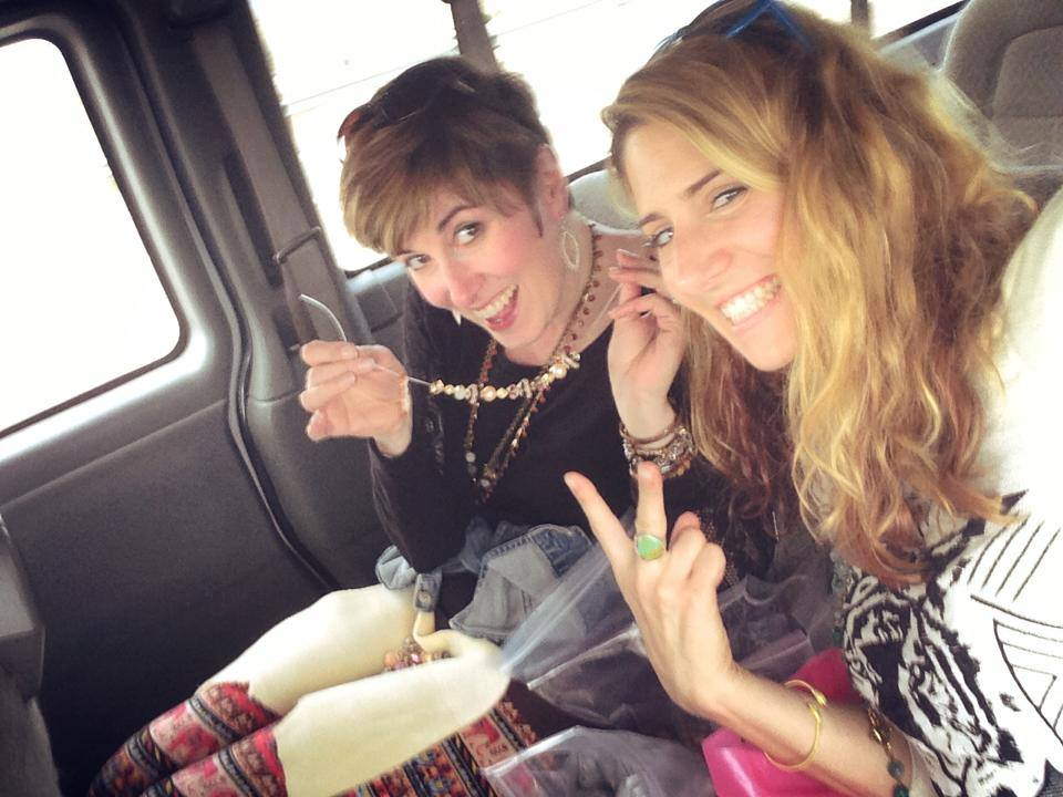 Sarah James and Candie Cooper's beading adventures