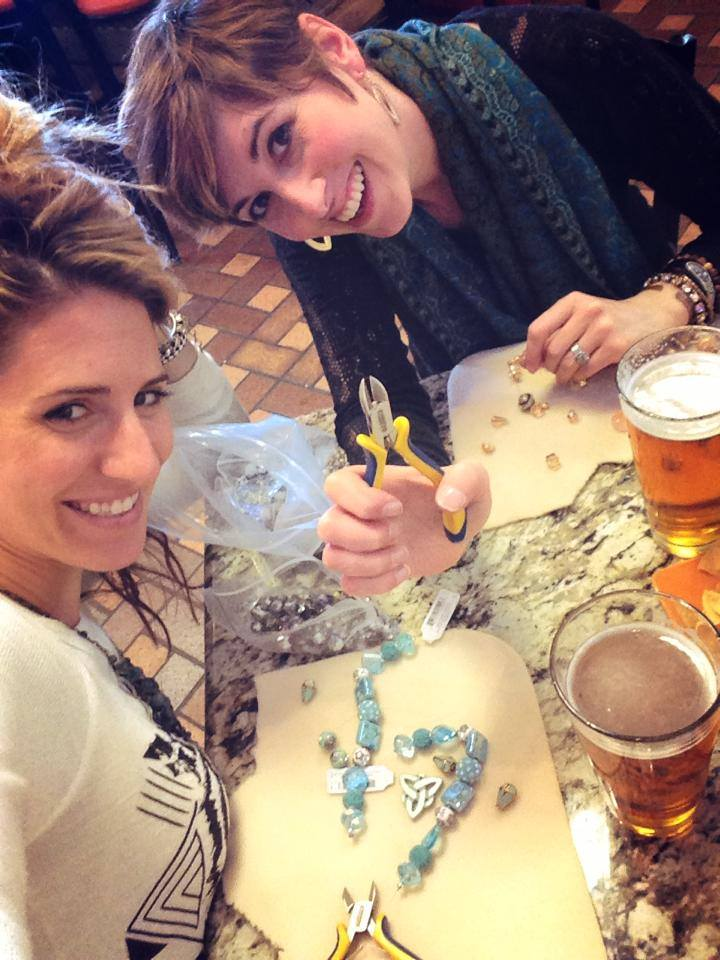 Cheers! Beads and Beers with Candie Cooper and Sarah James from Jesse James Beads