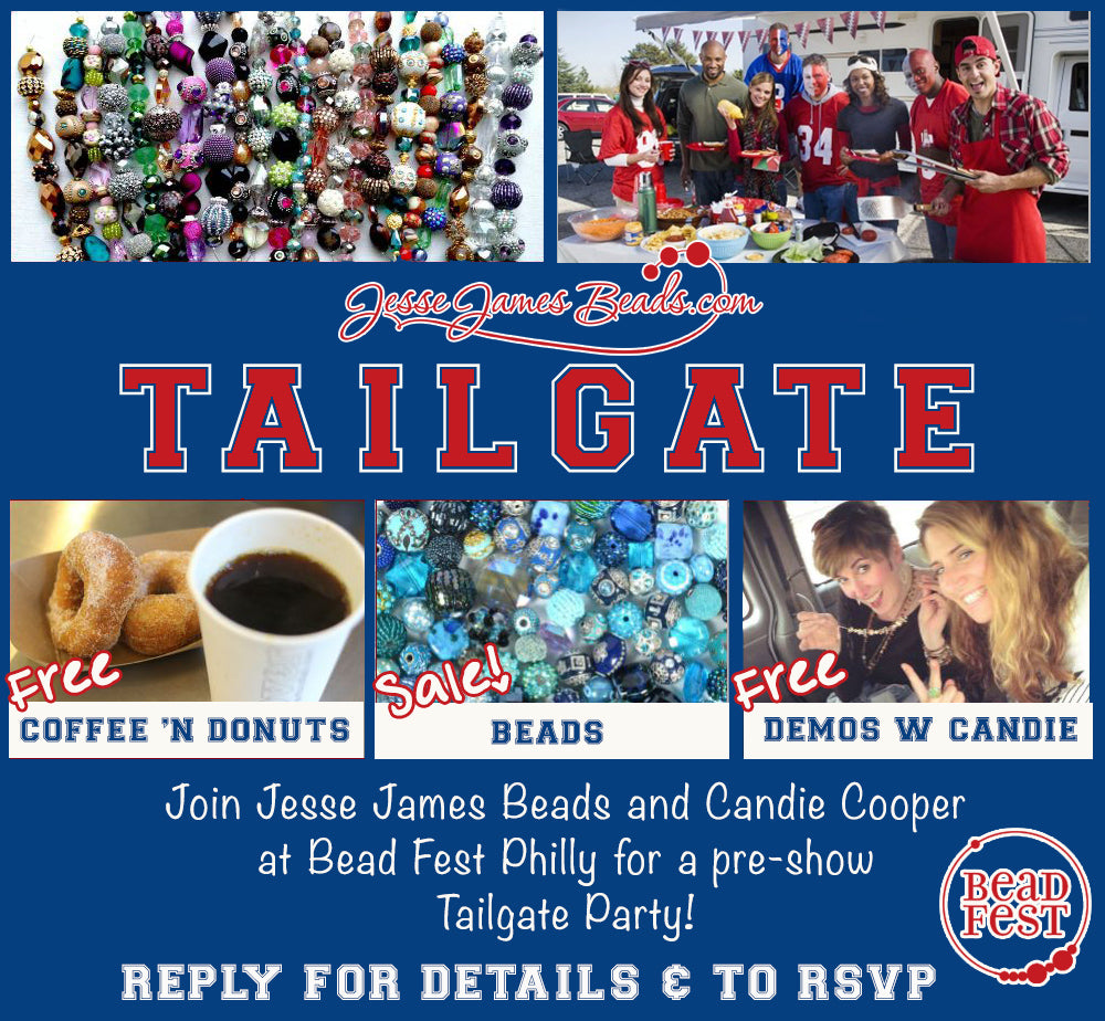 Pregame for Bead Fest at the JJB Tailgate, Saturday August 22 from 8-10am