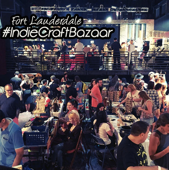 Working craft shows - The Fort Lauderdale Indie Craft Bazaar