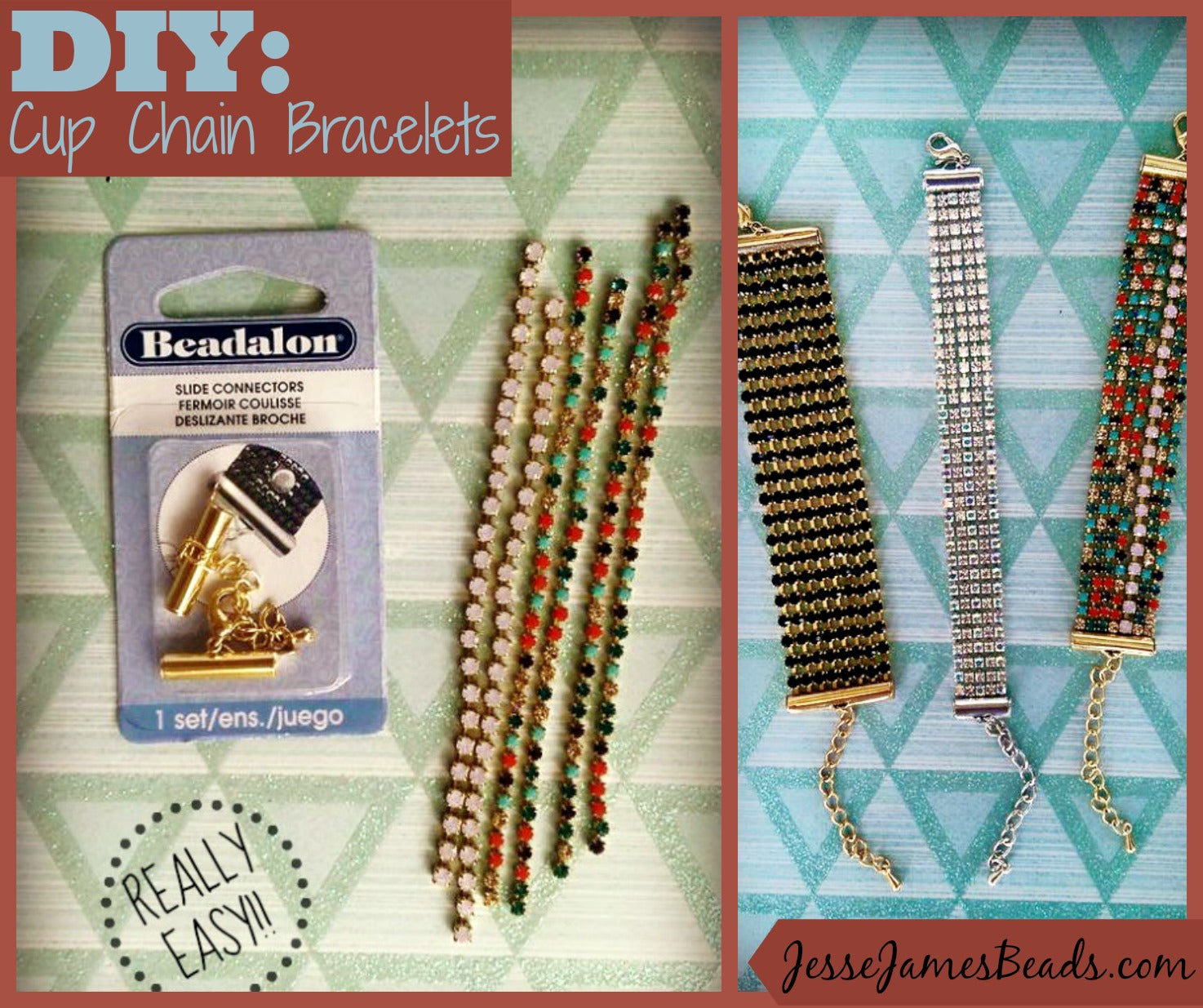 DIY Cup Chain Bracelet, quick and easy project from Jesse James