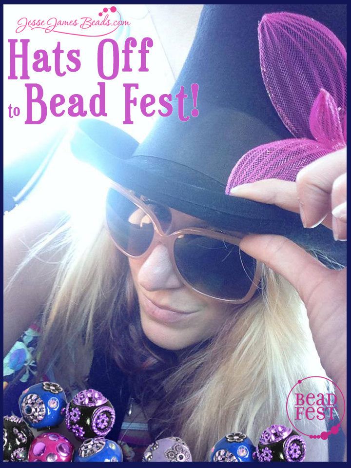 Save 10% with Jesse James when you where you hat to Bead Fest on Friday, August 21, 2015
