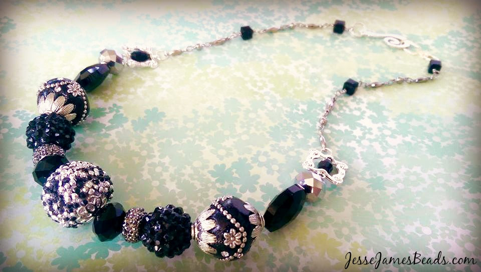 Pretty jewelry project with ornate beads from Jesse James