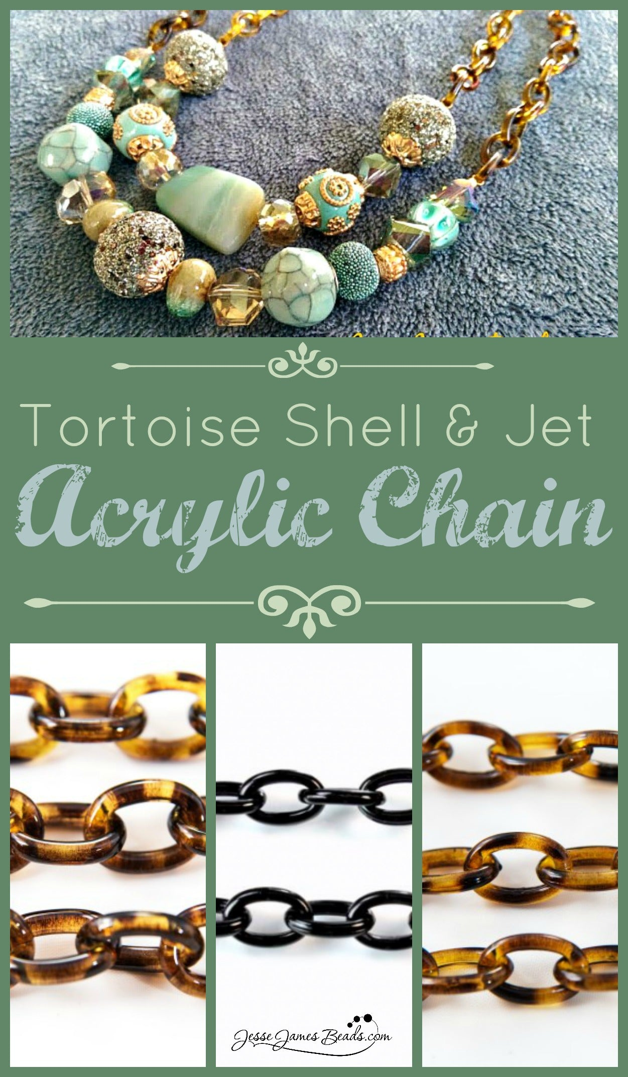 Acrylic chain for $9.99 per foot