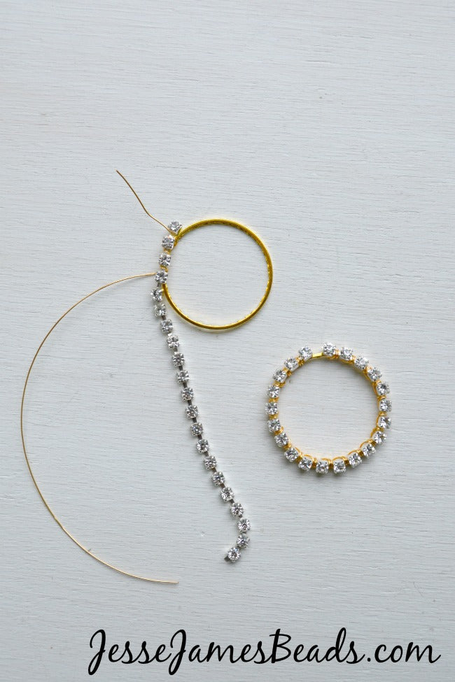 Wire wrapping crystal cup chain tutorial