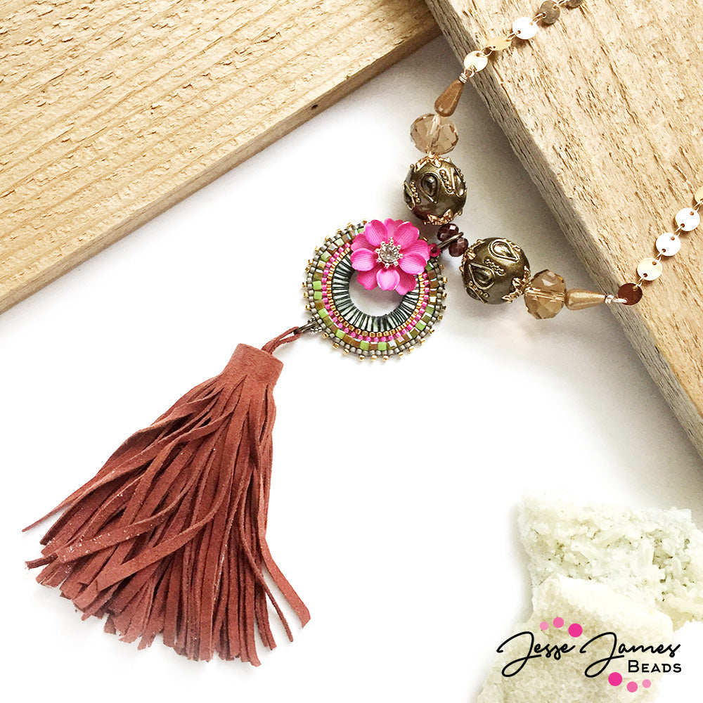 Jesse James Beads - Flower Power Necklace