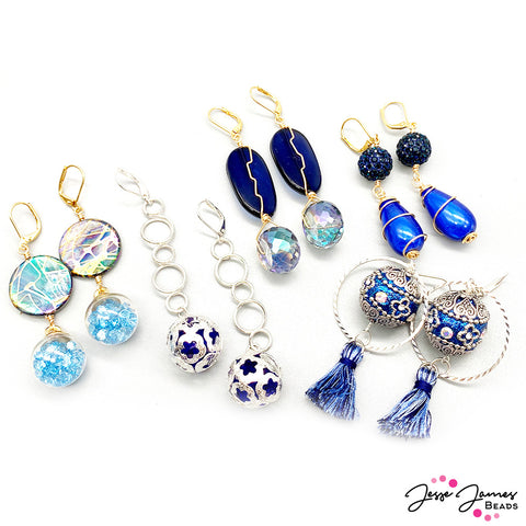 Galaxy Blue - Pantone - Earrings - Jesse James Beads - Sara Ellis