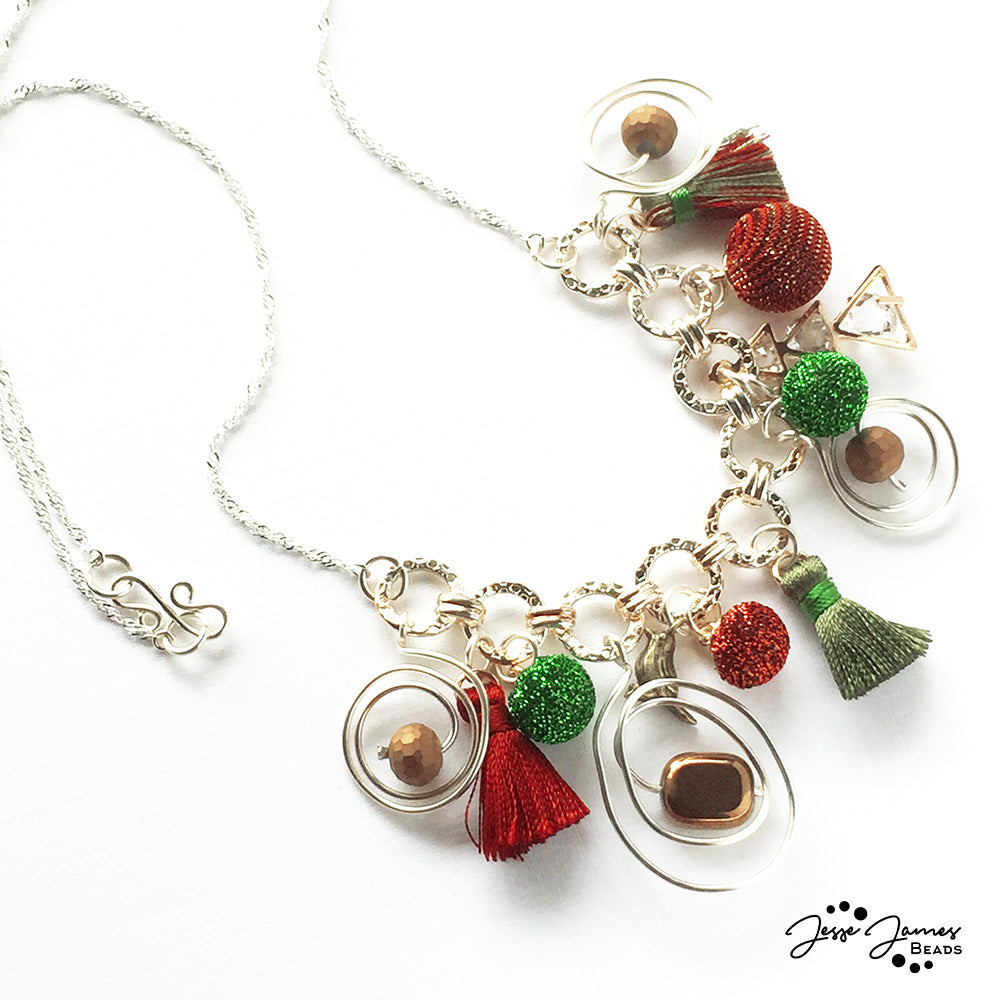 How-To Video: Dangling Ornament Christmas Necklace Tutorial ...