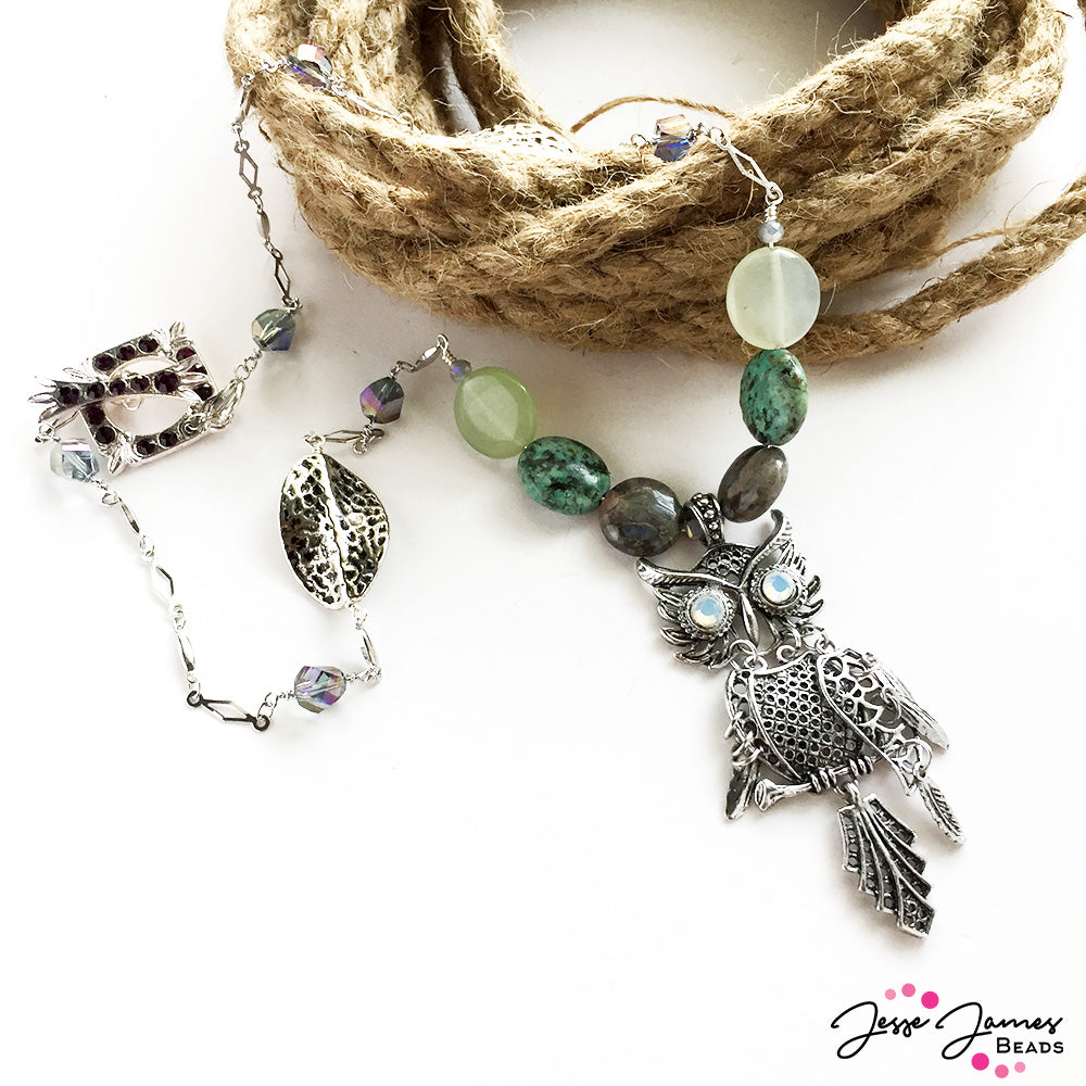 Dusk Owl Necklace - Nealay Patel - Jesse James Beads