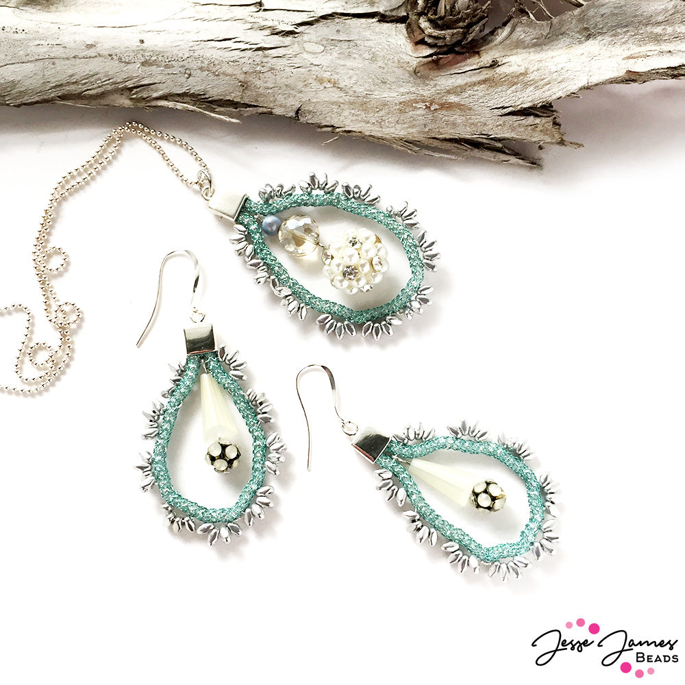 Jesse James Beads - SilverSilk and more - Seafoam Earrings