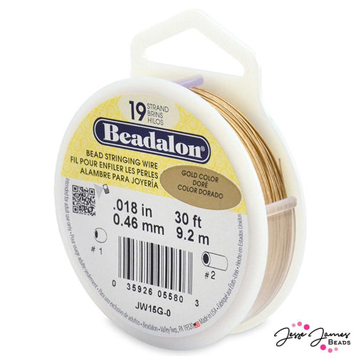Beadalon 19-Strand Wire in Gold
