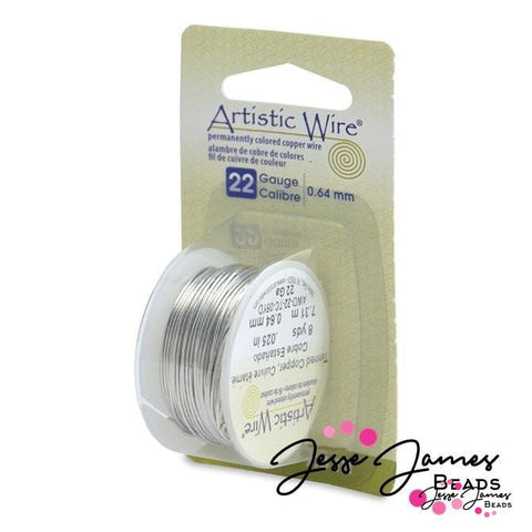 Artistic Beading Wire in Tarnish Resistant Silver 22 g