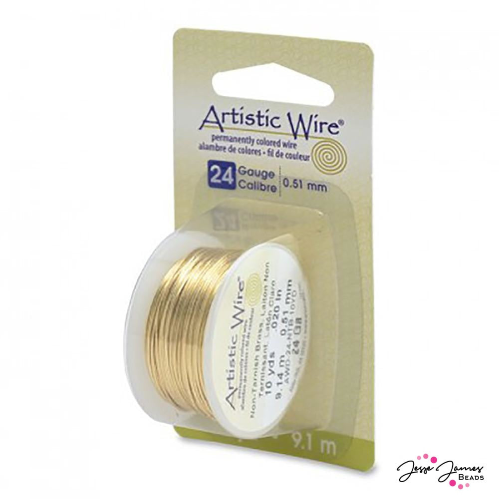 Artistic Beading Wire in Tarnish Resistant Brass 24 g