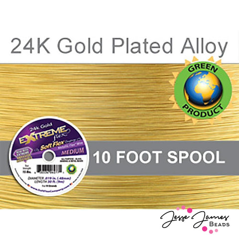 Soft Flex Wire in 24K Gold Color