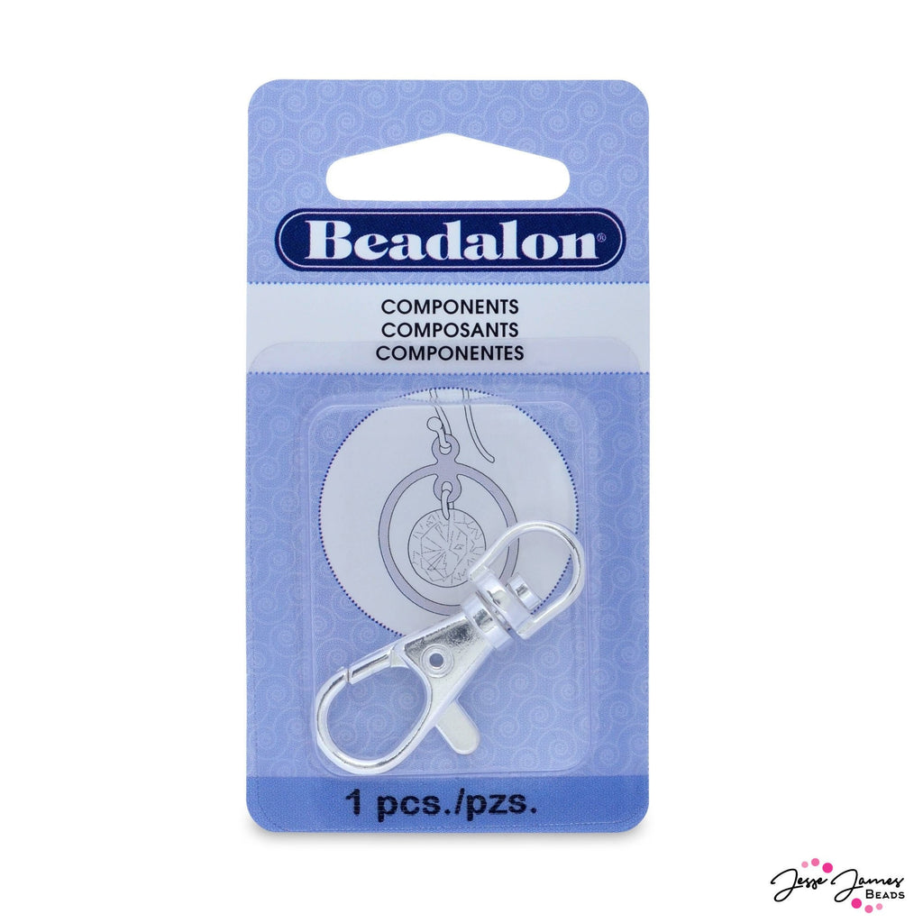 Silver Key Chain Badge Clip