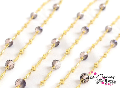Beaded Chain Dusty Plum Golden