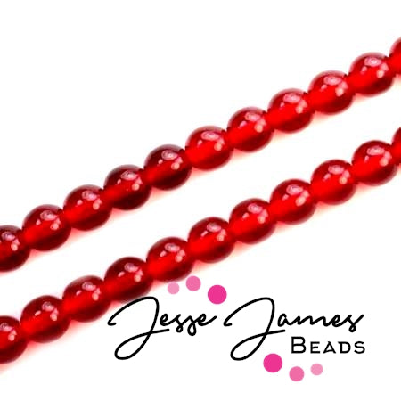 Red Ruby Czech Druk Beads 6mm 50 pieces