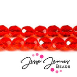 Red Hyacinth Czech Fire Polish Beads 8mm 50 pieces