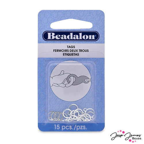 Beadalon 9mm Tags in Silver
