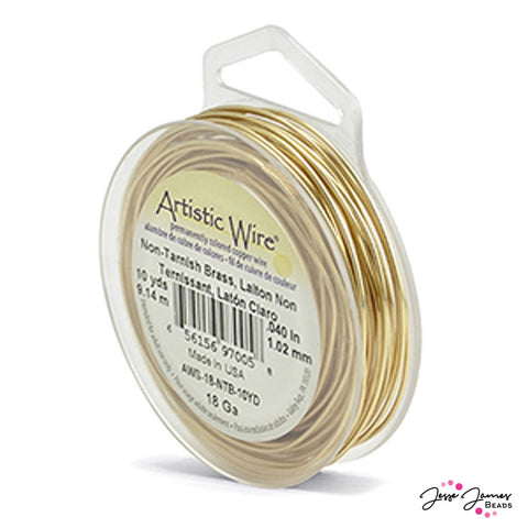 Artistic Beading Wire in Brass 18g