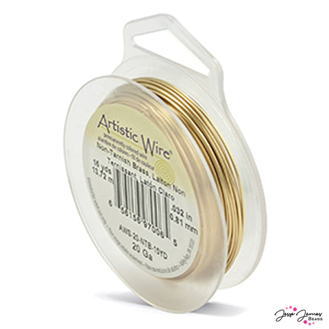 Artistic Beading Wire in Brass 20g