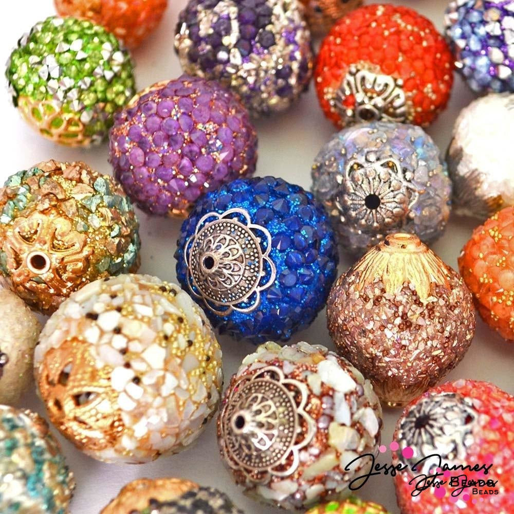 40 Piece Artisan Sparkling Focal Bead Mix