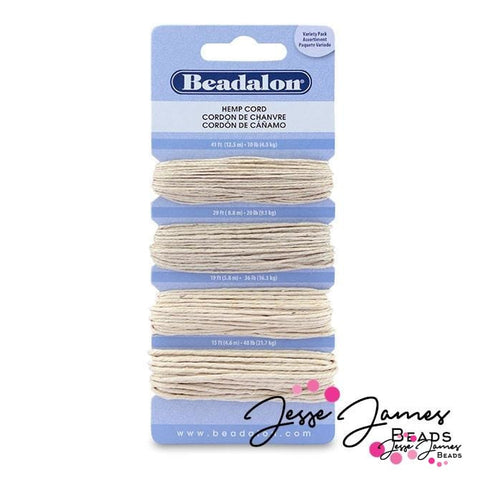 Natural Hemp Cord Variety Pack in Natural
