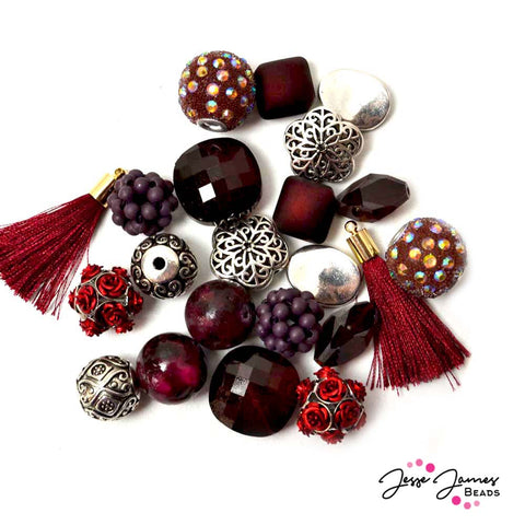 Biking Red Inspiration Bead Mix