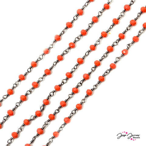 Chain Bright Coral Beaded