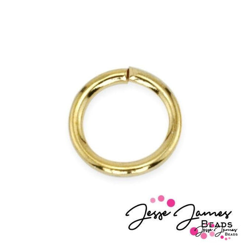 Jump Rings, Gold 6mm