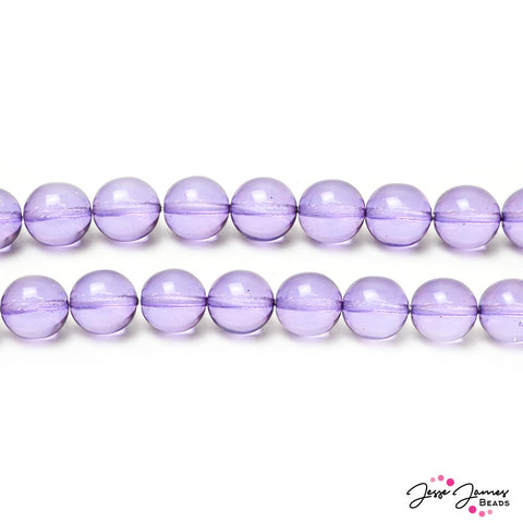 Purple Iolite Big Boy 12mm Czech Glass Round Druk Beads