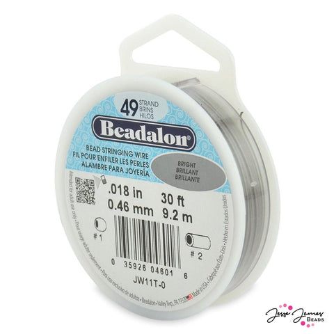Beadalon Bright Silver 49-Strand Stringing Wire